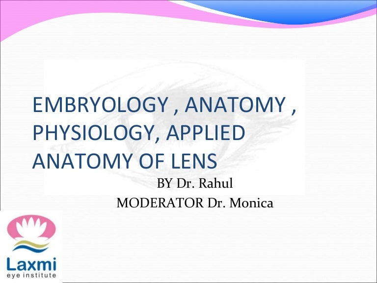 Embryology Applied Anatomy And Physiology Of Lens