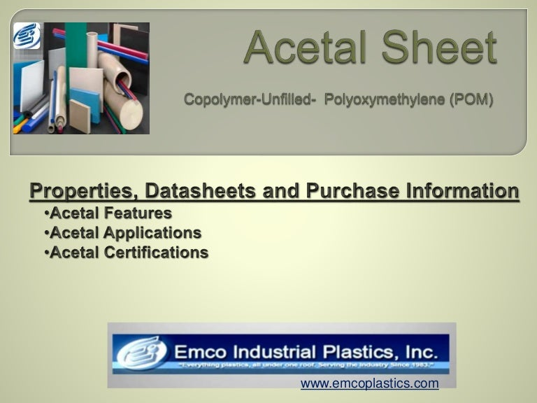Acetal sheet copolymer unfilled properties, datasheet and purchase ….
