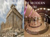 Emergence of modern architecture  ppt