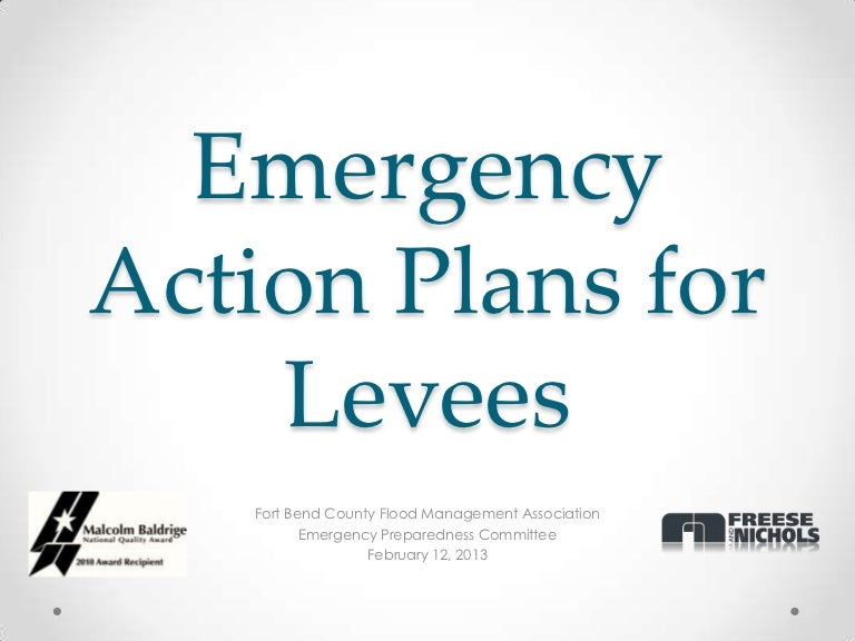 Emergency Action Plans Levee