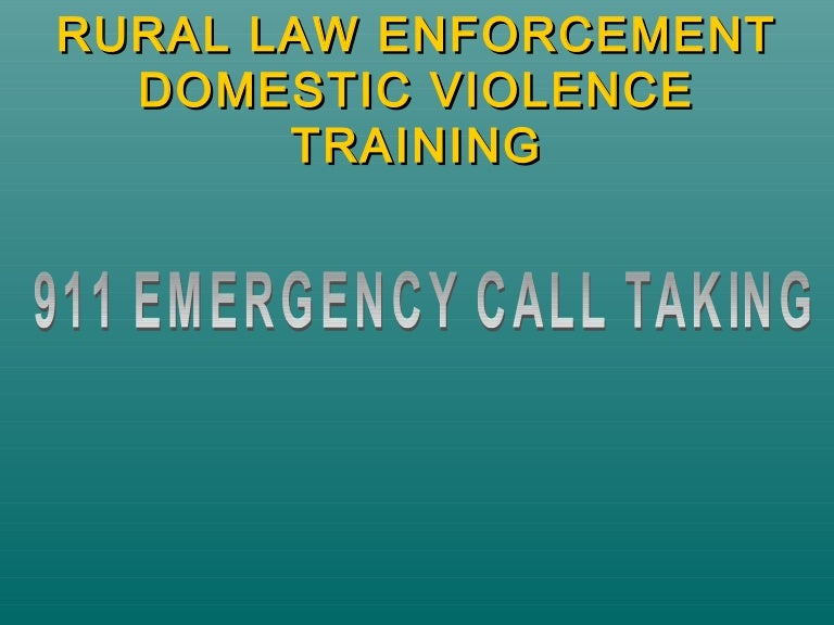 911 Domestic Violence Dispatch Training