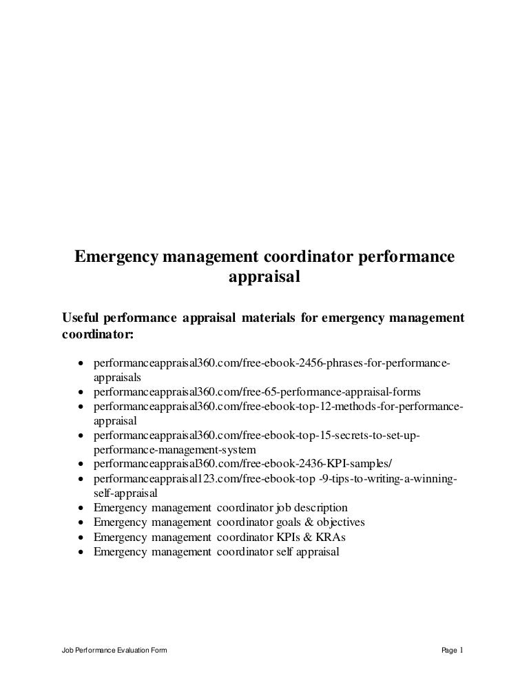 Job Performance Evaluation Job Performance Evaluation Form Example