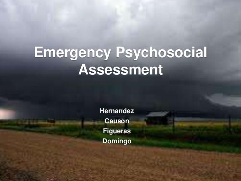 Emergency Psychosocial Assessment