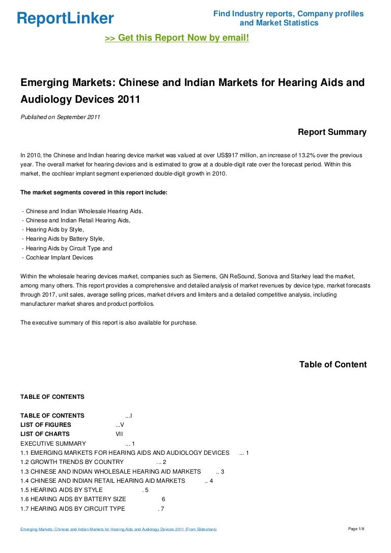 Emerging Markets Chinese And Indian For Hearing Aids Aud Aid Circuitry