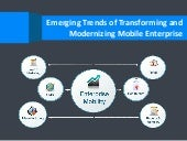 Emerging trends of transforming and modernizing mobile enterprise
