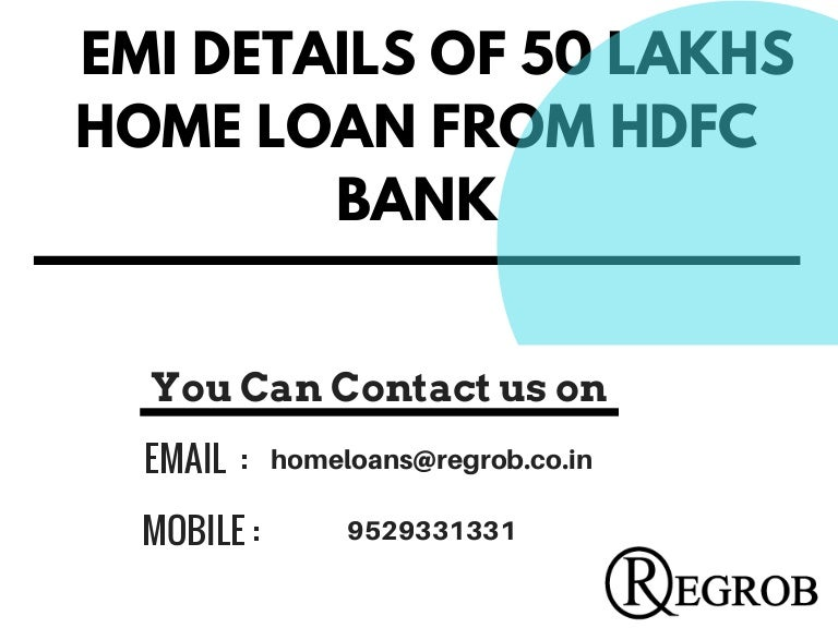 hdfc home loan documents details