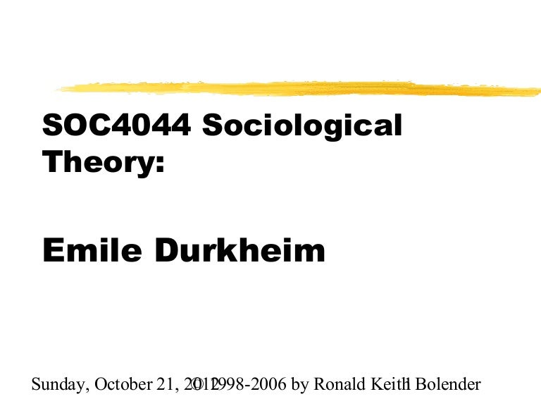 durkheim consensus theory In combating individualism and basing the existence of societies on a consensus of parts, durkheim refutes his positivistic emphasis which denies the relevance of ends to a scientific study of society.