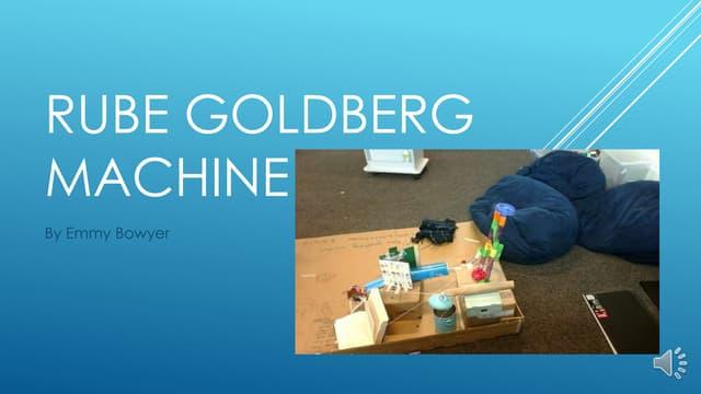 Emmy's rube goldberg machine