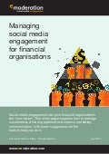 eModeration's guide to managing social media engagement for financial organisations