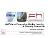 eMOOCs for Personalised Online Learning: A Diversity Perspective