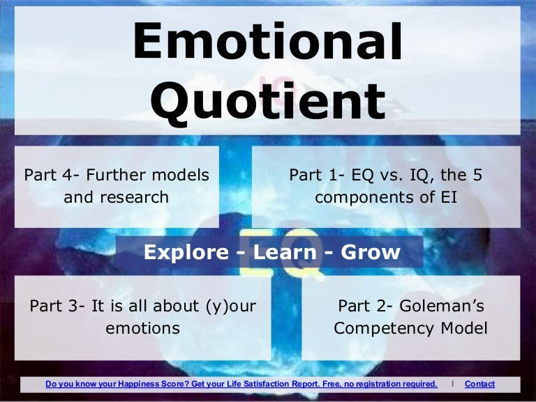 emotional quotient research paper Global leadership and emotional quotient geoffrey vanderpal  this paper aims to identify and investigate the relationship between emotional intelligence (ei) and the.