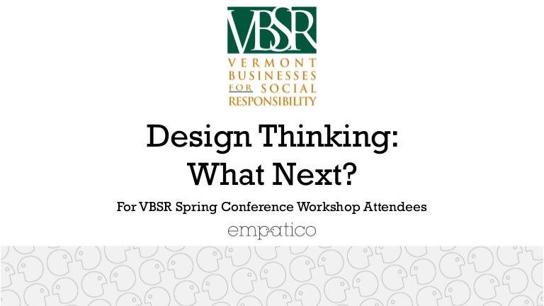 Empatico: Design Thinking Next Steps for VBSR