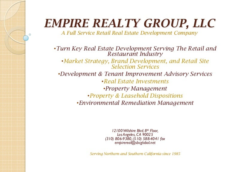 Empire investments los angeles ca wise investments for late beginning investors