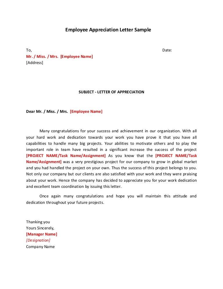 SlideShare  Employee Letter