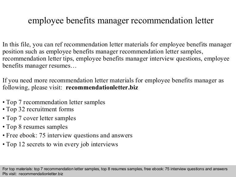 Sample Recommendation Letter For Employees