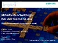 Mitarbeiter-Weblogs bei der Siemens AG