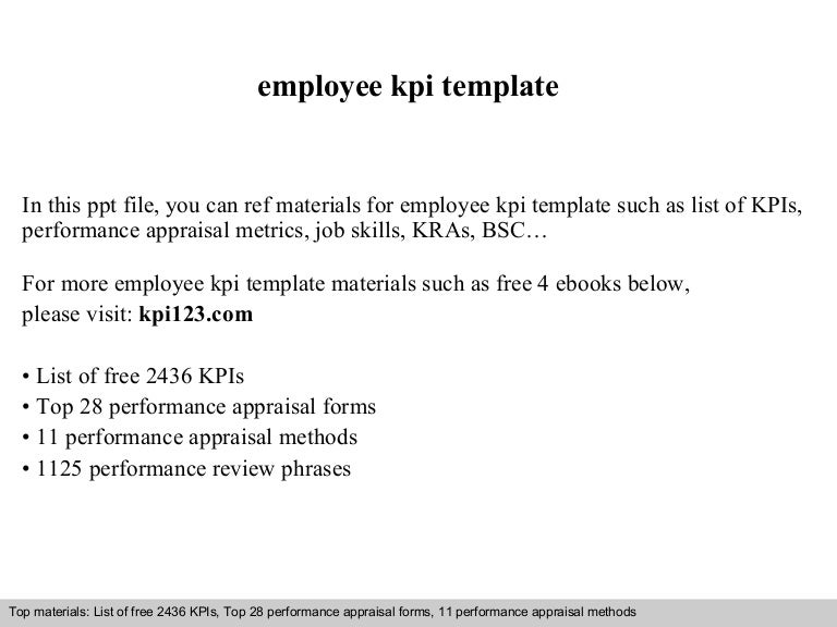 Employee kpi template – Employee Contact Information Template
