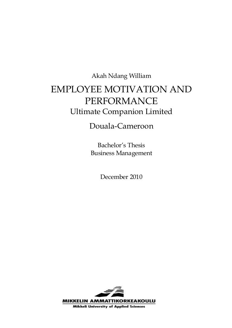 employee motivation and performance staff motivation