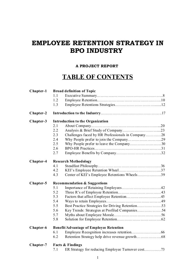 thesis on employee turnover retention Key words: employee turnover, attrition, retention, talent management cite this  article as:  thesis submitted to vanderbilt university2007 18 lepak dp.