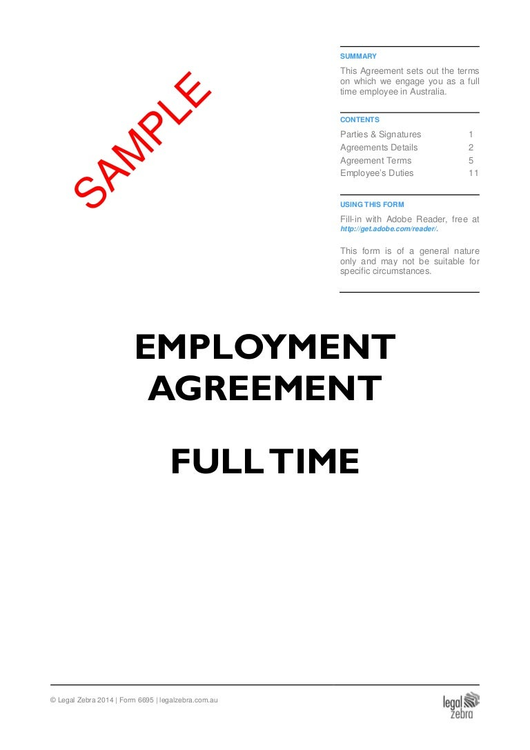 Permanent part time empoyment contract.