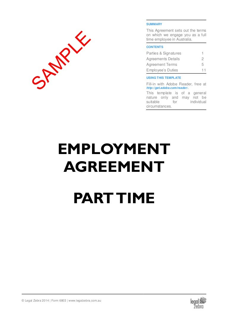 Part time employment contract template free chenzheng. Info.
