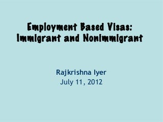 Regarding non-immigrant visas, what is the legal definition of