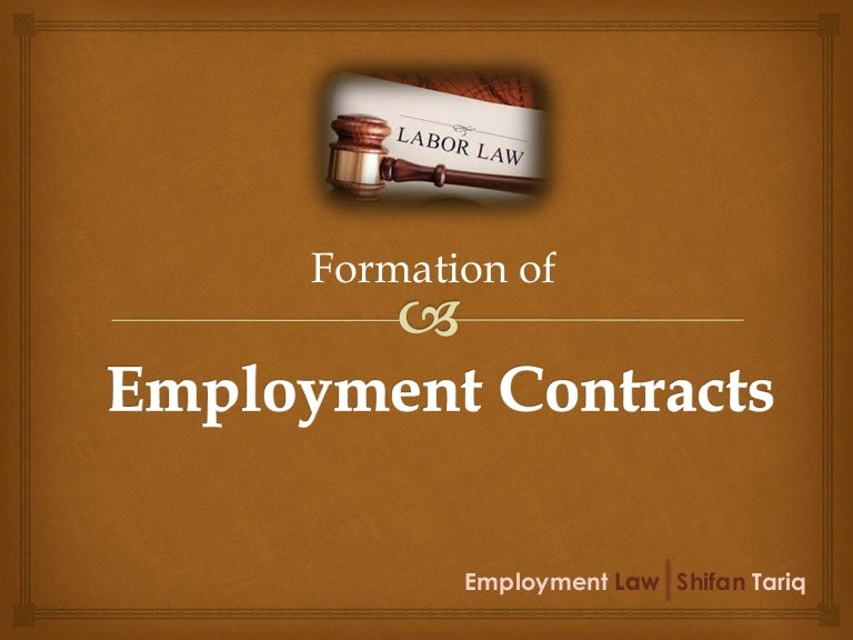 Formation Of Employment Contracts