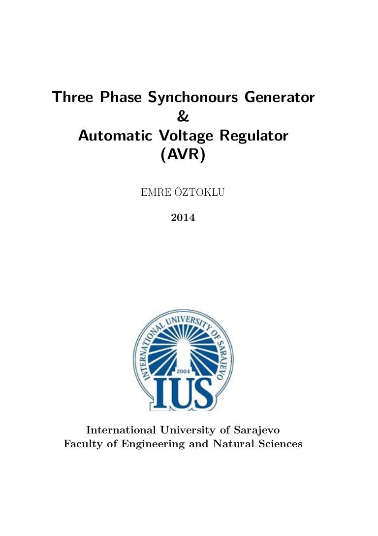 Three Phase Synchonours Generator And Avr 120 240 Wiring Configuration Diagram