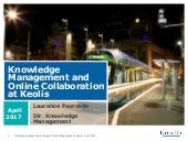 Knowledge Management and Online Collaboration at Keolis Group