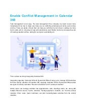 Enable conflict management in calendar 365