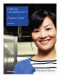 Enabling People Centric Processes  - a Microsoft IT Preview Guide