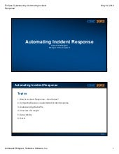 En case cybersecurity automating incident response-bhagtani-5-22-2012 [compatibility mode]