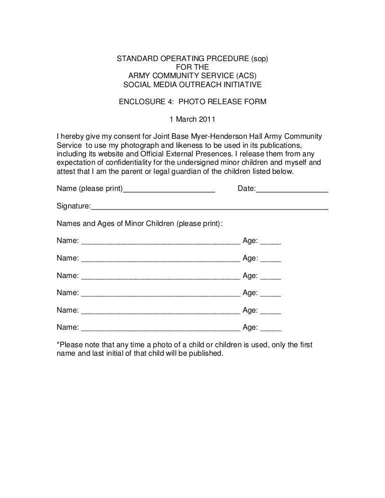 Encl 4 Photo Release Form