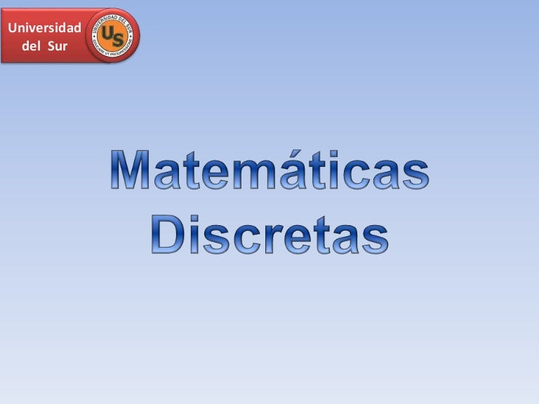 Encuadre - Matemáticas Discretas