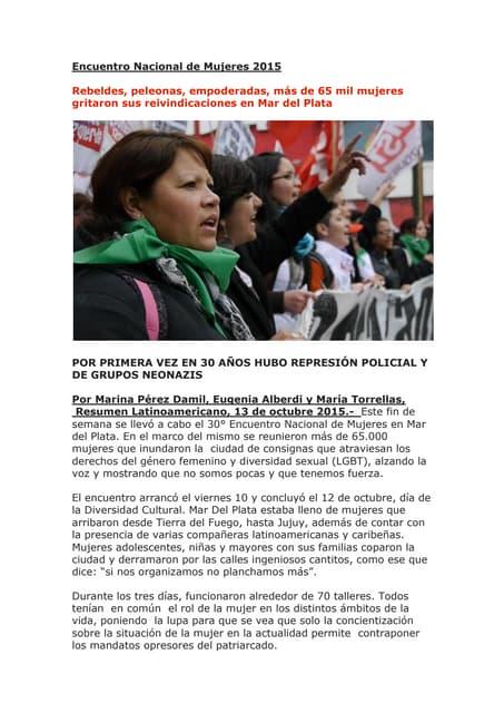 Rebeldes, peleonas, empoderadas, más de 65 mil mujeres gritaron sus reivindicaciones en Mar del Plata