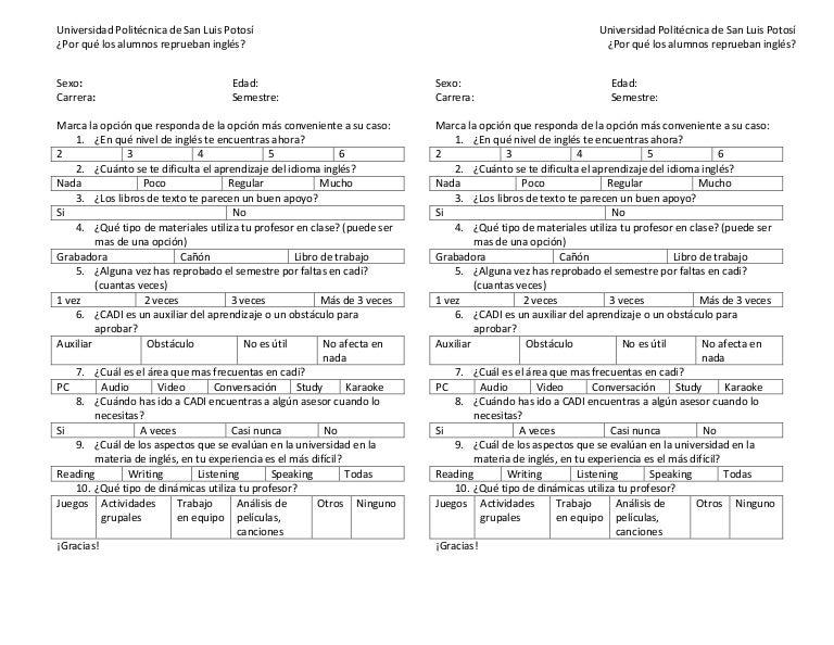 formatos de encuestas y entrevistas