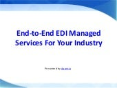End-To-End EDI Managed Services for Your Industry