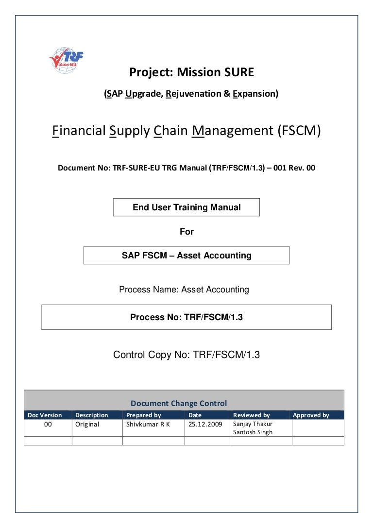 sap fi asset accounting end user guide for beginners rh slideshare net SAP Accounting Tutorial What Are the Uses of Accounting SAP