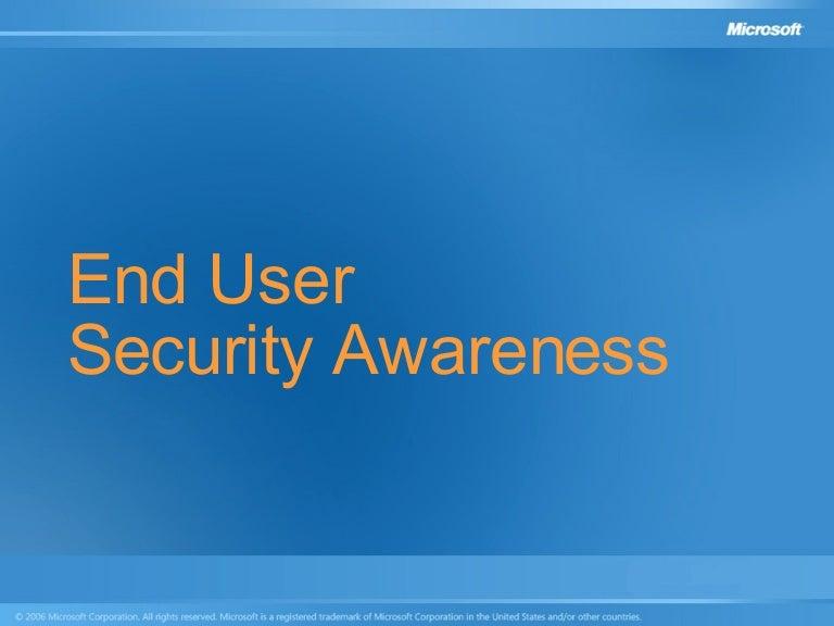 End User Security Awareness Presentation