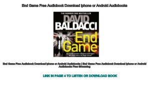 End Game Free Audiobook Download iphone or Android Audiobooks