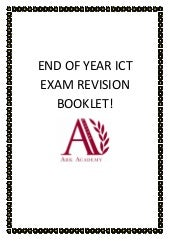 End of year ict exam revision booklet (pdf)