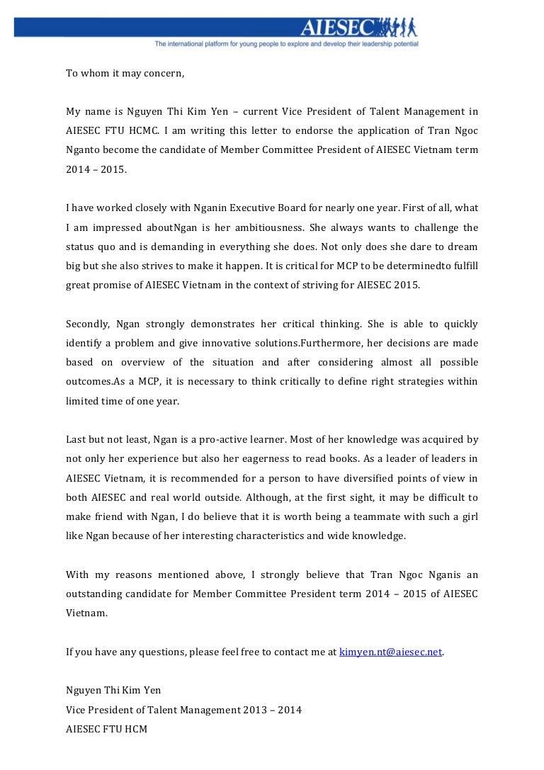 endorsement letter nguyen thi kim yen