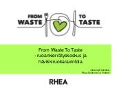 Johanna Kohvakka: From Waste to Taste