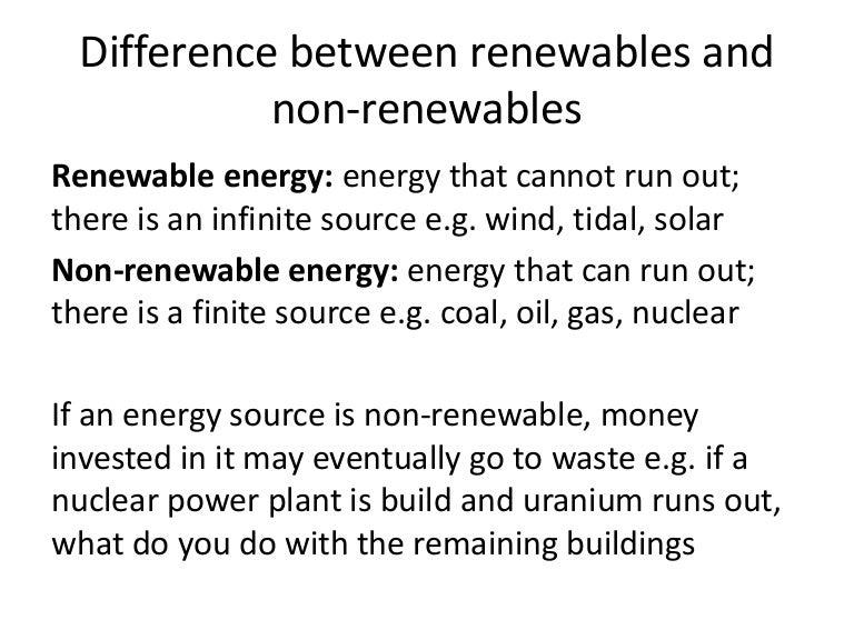 distinguish between renewable and nonrenewable sources of energy