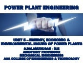 Energy, economic and environmental issues of power plants