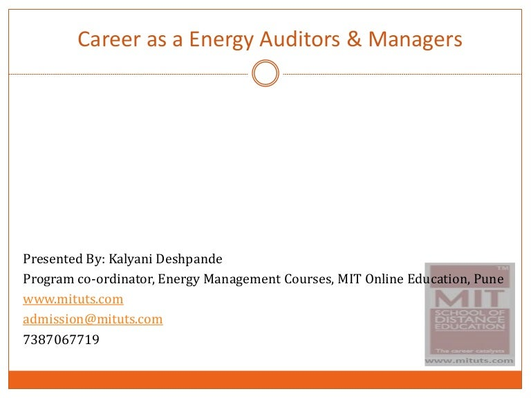 certified energy manager resume