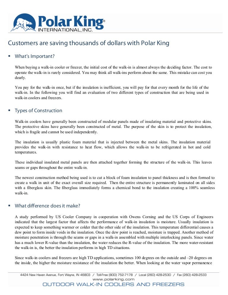 Polar King Energy Consumption Study