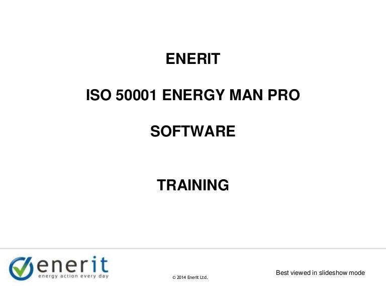 Enerit ISO 50001 Overview Training Presentation