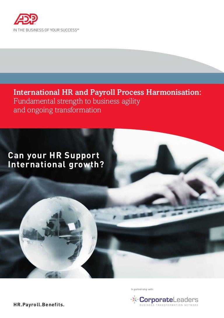 International hr and payroll process harmonisation fundamental stren xflitez Choice Image