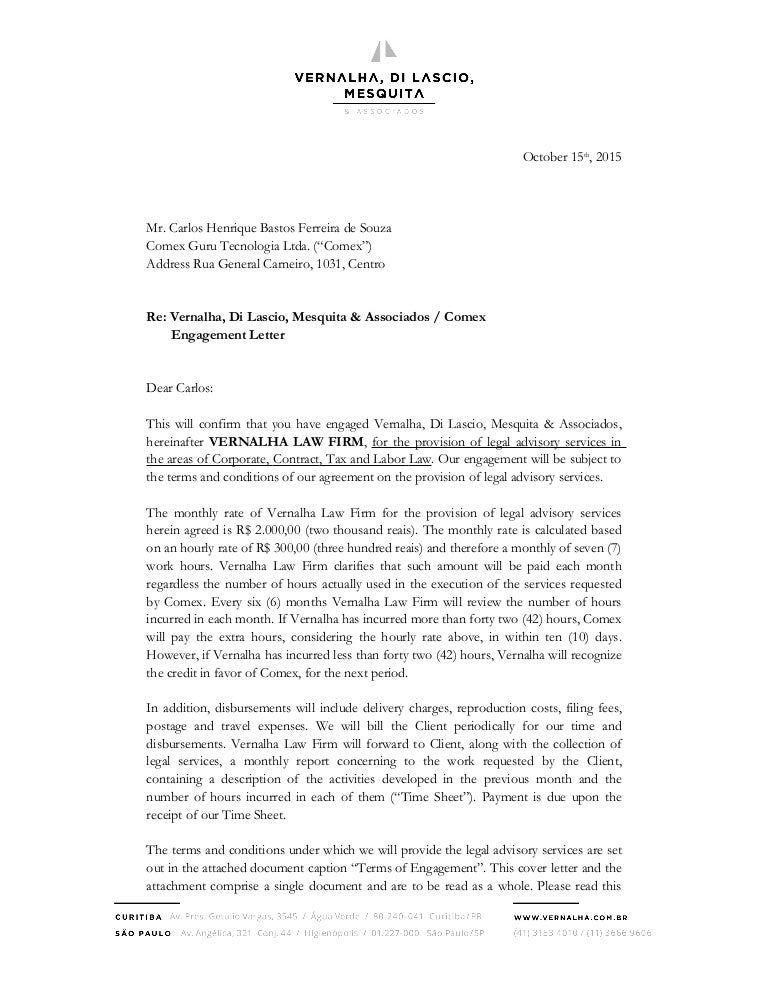 attorney engagement letter engagement letter 20522
